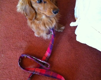 Harris tweed dog leash made in Scotland