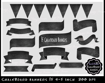 Chalkboard Banner chalkboard Flourishes Clip Art chalkboard labels Banner clipart Scroll Clip art Rustic Banner clipart invitation banners