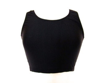 90's Black and Pink Crop Top size - S/M