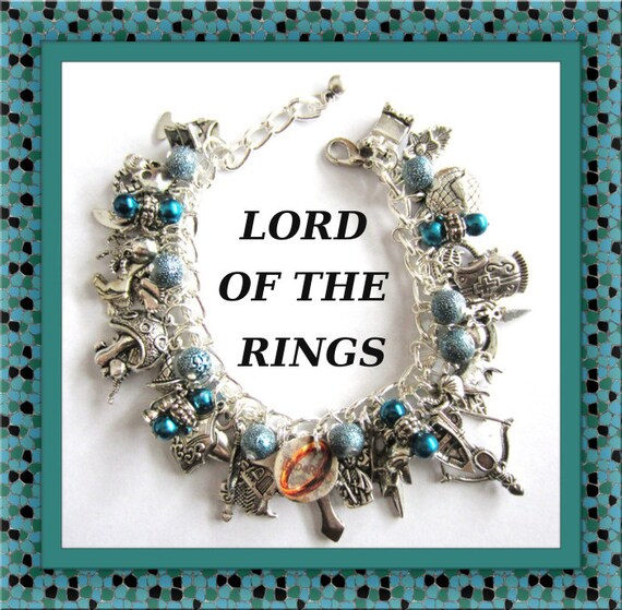items similar to lord of the rings charm bracelet the