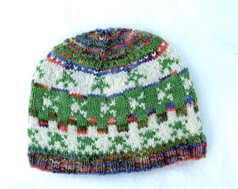 Wool hat: Frogger Fair Isle