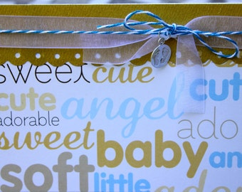 Baby Shower Card, Baby Boy Congrats Card, New Baby Congrats, Newborn Congrats Card, Sweet Baby Card