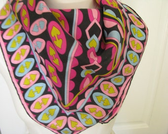 Bright Pink Abstract  Scarf SALE