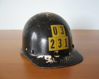 Vintage Mining Helmet - Hard Hat - MSA Safety - Industrial Display