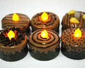 LED, Miniature Chocolate Tea Light, Trendy decoration for Party,1 pcs