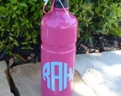 PINK or PURPLE Personalized Stainless Steel Water Bottle