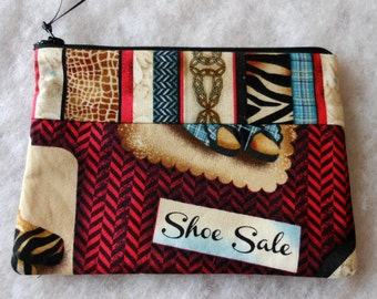 Zippered Pouch Cosmetic Bag Electronics Bag Small Shoe Sale