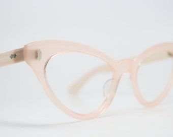 Light Pink cat eye glasses rhinestone cateye frames