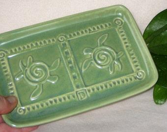 Sea Turtle Plate Blue, Green  #sea turtle  #serving dish  #gift