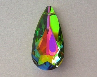 Vitrail Medium Swarovski crystal pendant, 24mm teardrop, qty 1