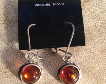 Hanging Baltic  amber earrings