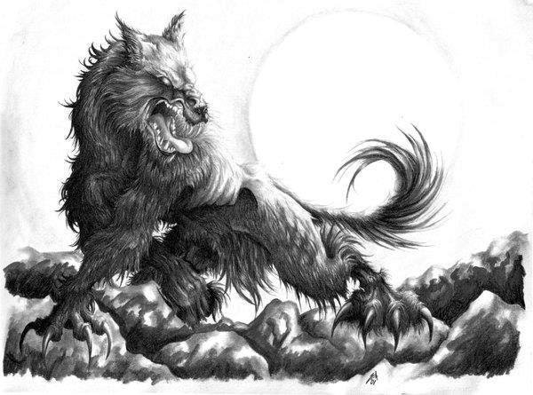 Scary werewolf drawings - photo#23
