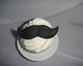 Mustaches Fondant Cupcake Toppers