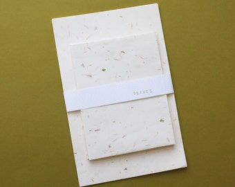 floral paper stationery pack