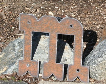 6 Inch Metal Letters Mesmerizing Rustic Metal Letters Recycled Steel 6 Inch Tall Recycled Steel Design Decoration