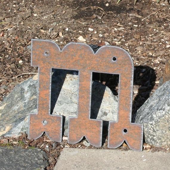 custom metal letters western rustic steel numbers symbols 8 inch tall numbers