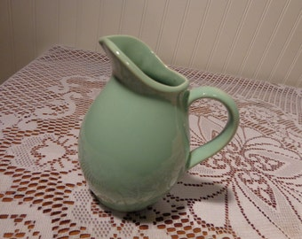 Vintage Turquoise Ceramic Creamer Pitcher - Made in USA  -  13-668