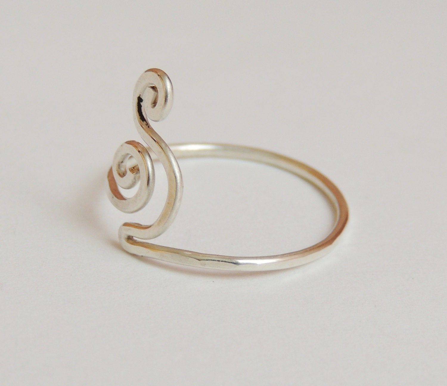 curly wave wire ring sterling silver wire 18