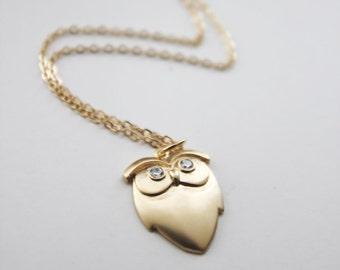 Hoot Hoot Owl Necklace. Matt Gold