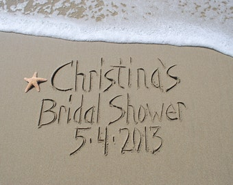Bride Groom Custom names written in the sand REAL beach sand, photograph download .jpeg YOU PRINT, engagement, reception, shower wedding
