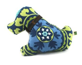 Handmade  Dog Toy Blue Puppy Love