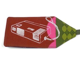 Luggage Tag - Camera - Japanese Import Fabric