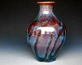 Flower Vase Pottery Night Sky B