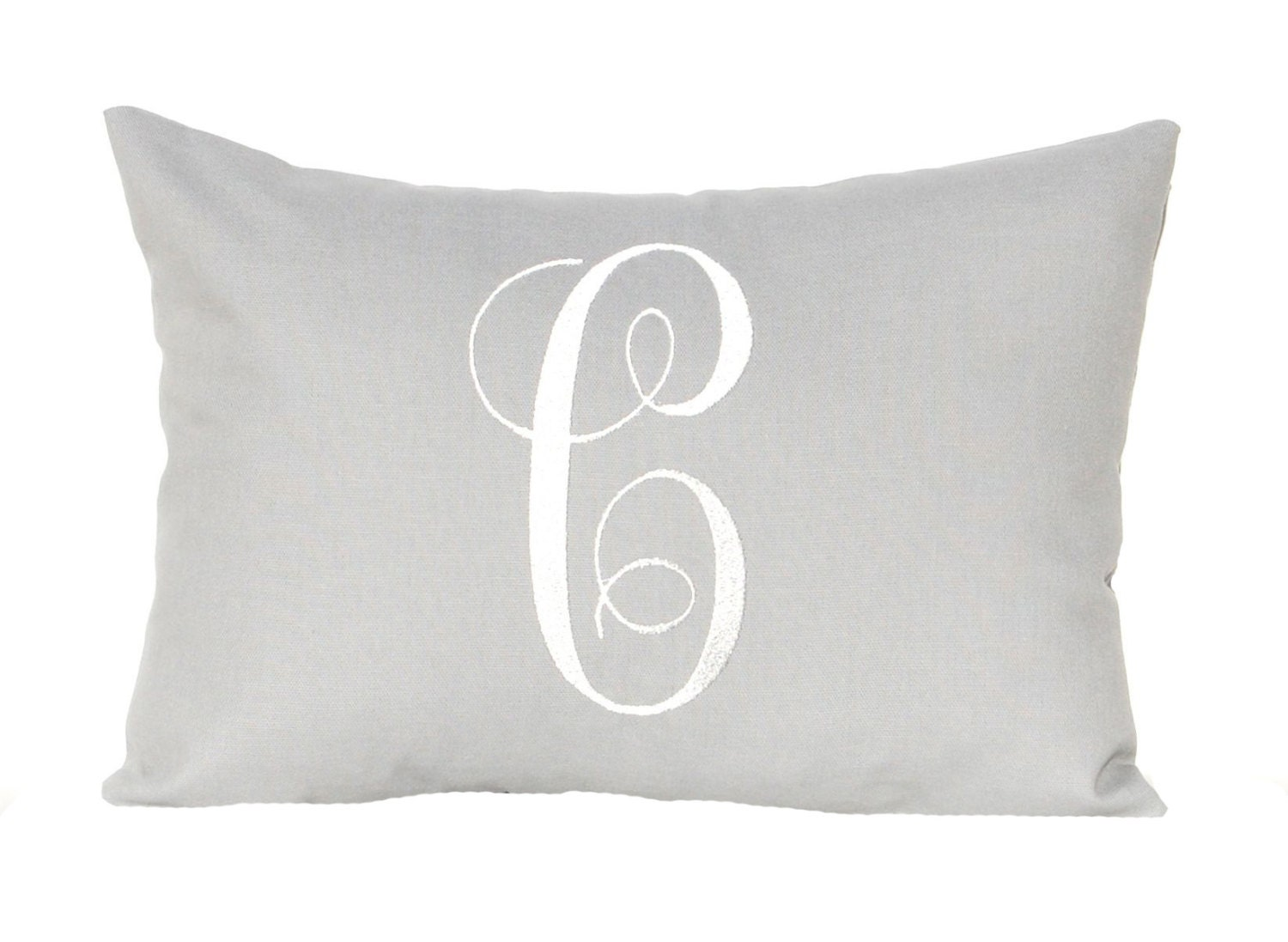 Monogrammed Pillow Cover 18 X 18 Personalized Gift Pillow
