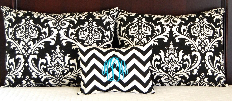 Decorative Standard Pillow Shams : Pillow Shams Dorm Decor Black Decorative Throw Pillow
