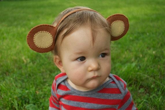 Wool Felt Monkey Ears Headband