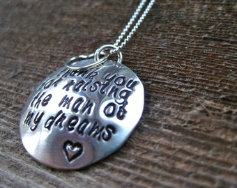 Thank you Mother in law Necklace - Man of my dreams - By Rawkette