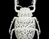 "Beetle Sculpture ""Coleoptera Filigre"" (medium)"