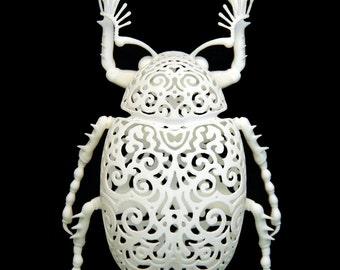 "Beetle Sculpture ""Coleoptera Filigre"" (large)"