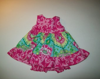 "Baby Alive  And Waldorf Doll Clothes Flirty Ruffled Sundress 10"" 12"" Or 15"""