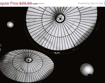Black and White Photography, Ceiling at the Hearst Mining Building,  Wall Decor, Fine Art Print, BW, Berkeley