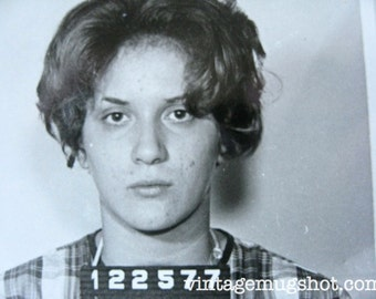 Cleveland Ohio Police Department Criminal MUG SHOT 1965 Bad Woman