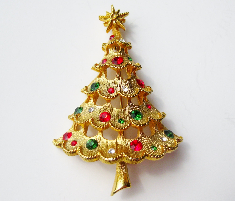 Avon Christmas Tree Brooch Mylu Segypc Christmasholidayseason Info