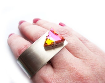 LAST ONE Limited Special Edition Swarovski Crystal Statement Ring