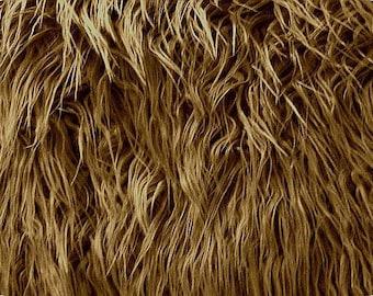 Mongolian Caramel Faux Fur 18x20 Photography Prop