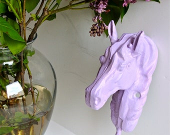 Shabby Chic Purple Horse Hook, Wall Hook, My Little Pony, Princess Decor, Western Decor