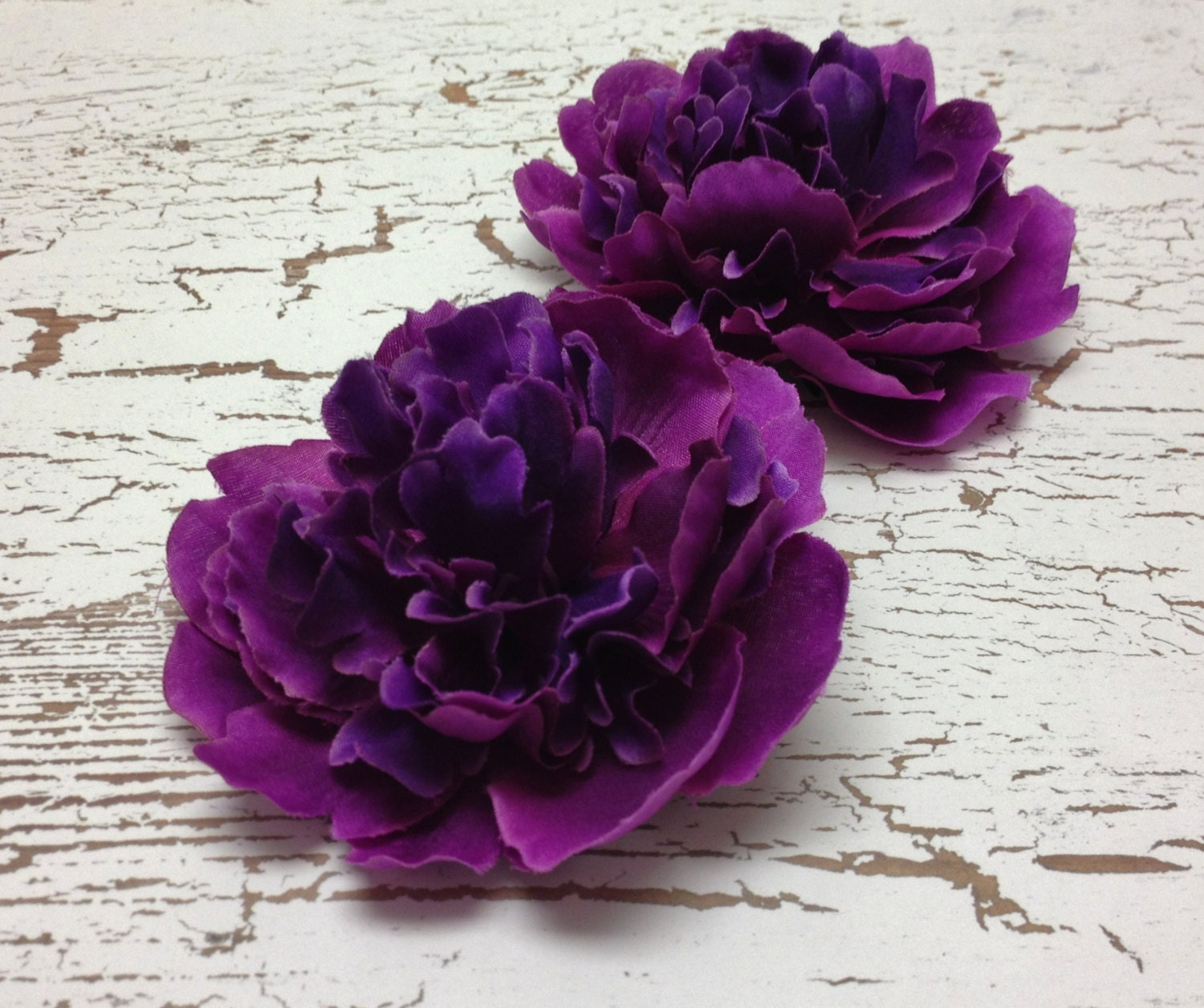 Silk flowers two peonies in deep raspberry purple smaller zoom dhlflorist Images