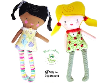 Easy Girl Doll Sewing PDF Pattern