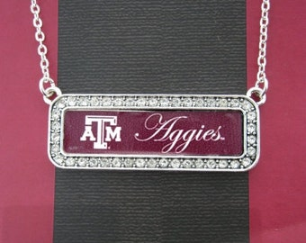 Texas A&M NAME PLATE Necklace