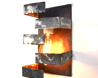 "LOFT V18 - ""Shift"" - Wine Barrel Wall Sconce - 100% Recycled"