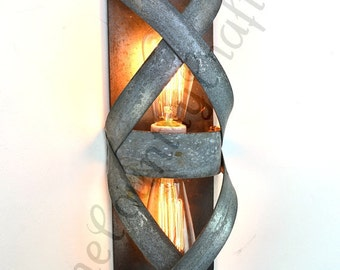 "LOFT V4 - ""Bandeau"" - Wine Barrel Ring Wall Sconce - 100% Recycled"