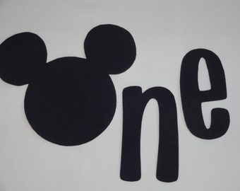 Mickey Mouse Inspired 1st/First Birthday iron on applique ONE