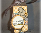 Baked Goods Tag -- Handmade Tag for Baked Goods -- Scrapbook or Card supply