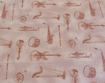 Musical Instruments Fabric TImeless Treasures