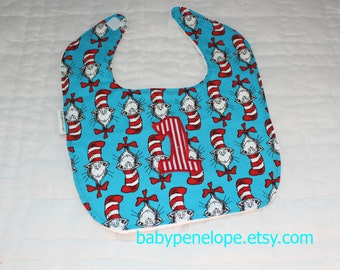 Boutique Style Baby Bib - Cat in the Hat - First Birthday
