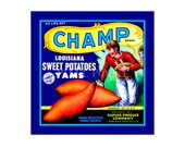 Small Journal - Champ Brand Yams - Fruit Crate Art Print Cover